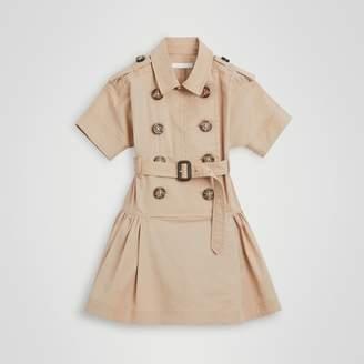 f0a2abd14bddb Burberry Childrens Stretch Cotton Trench Dress