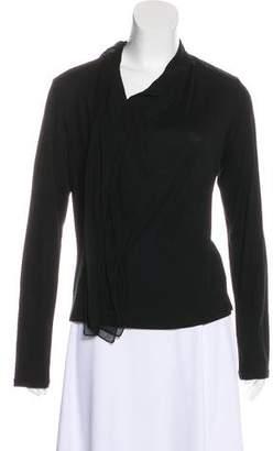 Issey Miyake Fete Wool Long Sleeve Top