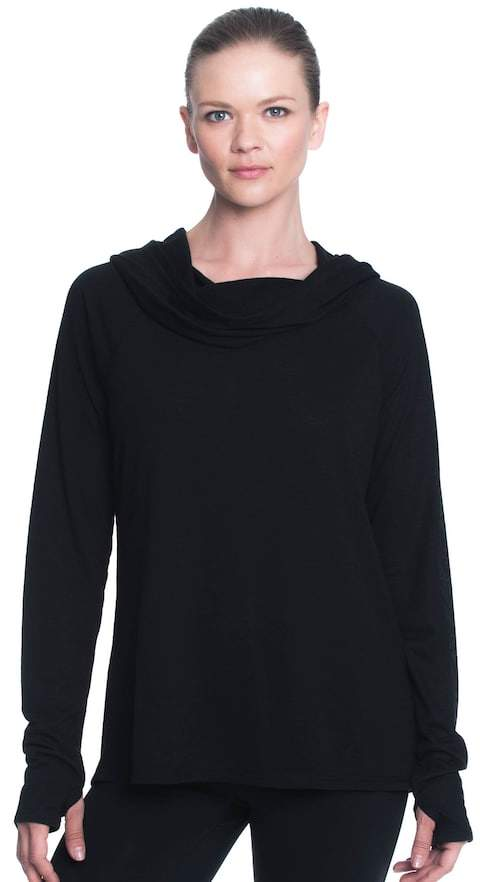 Gaiam Women's Gaiam Emery Cowl Neck Hood Top