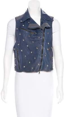 Drome Studded Leather Vest