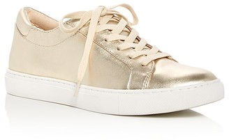 Kenneth Cole Kam Metallic Lace Up Sneakers $120 thestylecure.com