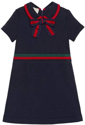 Gucci Kids Children's cotton dress with Web Bow
