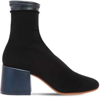 MM6 MAISON MARGIELA 65mm Faux Leather & Elastic Ankle Boots