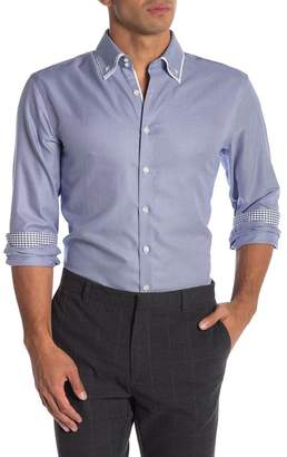 Lindbergh Double Collar Long Sleeve Regular Fit Shirt