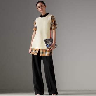 Burberry Rib Knit Wool Cashmere Vest