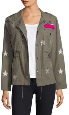 Jocelyn Printed Washed Twill Field Jacket