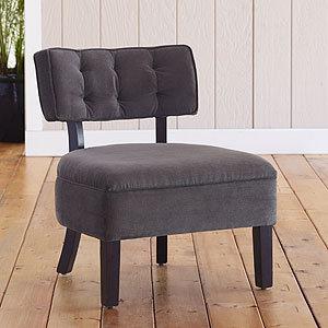 Logan Armless Chairs, Charcoal