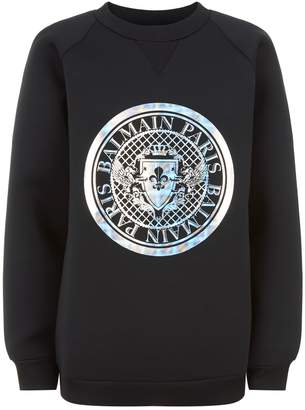 Balmain Medallion Neoprene Sweater