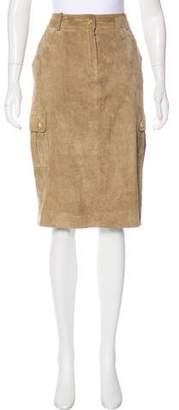 Celine Suede Knee-Length Skirt