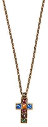 Gucci Cross Pendant Necklace - Mens - Multi