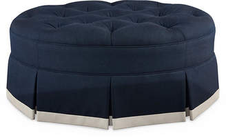 Joe Ruggiero Collection Burton Oval Ottoman - Indigo Sunbrella