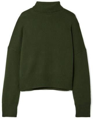 Nili Lotan Serinda Wool And Cashmere-blend Turtleneck Sweater - Army green