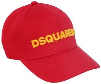 DSQUARED2 Logo Embroidered Cotton Gabardine Hat