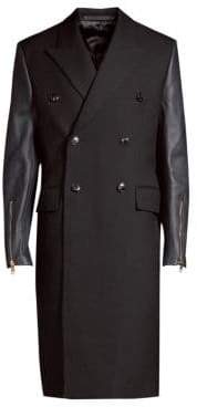 Paul Smith Wool& Leather Coat