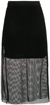 Tufi Duek sheer midi skirt
