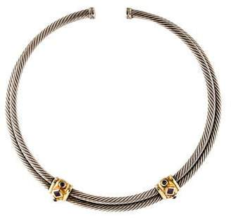 David Yurman Renaissance Iolite & Tourmaline Choker Necklace