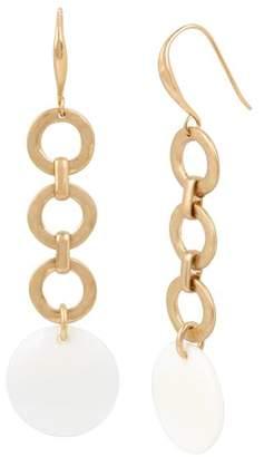 Robert Lee Morris Soho Two-Tone Linear Ring Drop Earrings