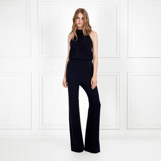 Rachel Zoe Lou Sequin Embellished Stretch Crepe Jumpsuit