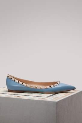 Valentino Gavarani Rockstud Ballet Flats