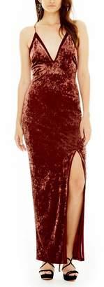 Astr Velvet Maxi Dress
