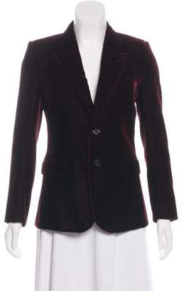 Saint Laurent Velvet Notch-Lapel Blazer
