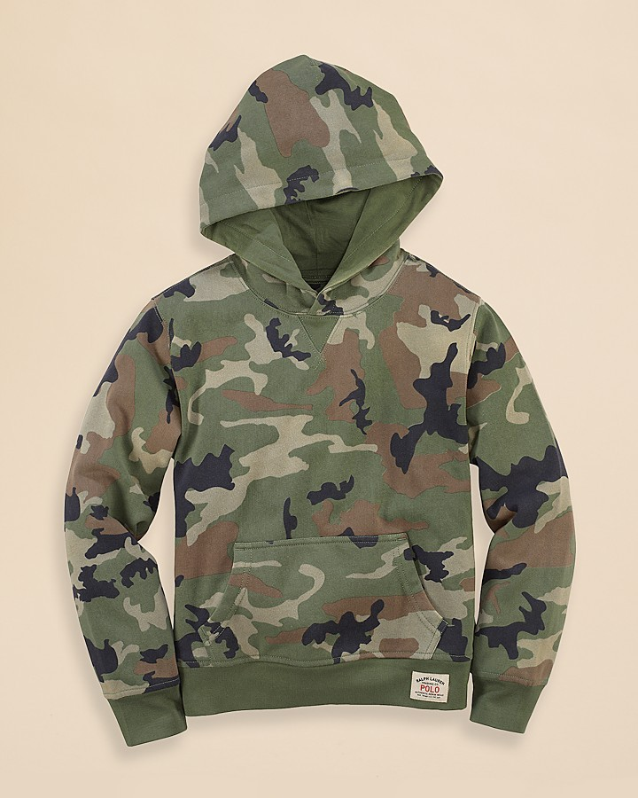 Ralph Lauren Boys' Camouflage Hoodie - Sizes S-XL
