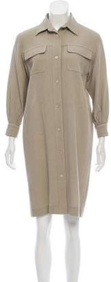 Bergdorf Goodman Long Sleeve Knee-Length Dress