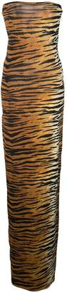 Alexandre Vauthier tiger print fitted dress