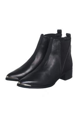 Bronx Black Leather Booties $354 thestylecure.com