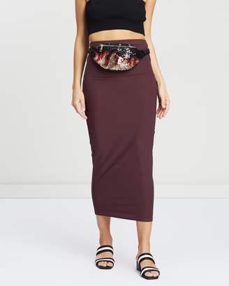 Missguided Bandeau Midi Skirt