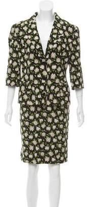 Dolce & Gabbana Silk Floral Print Skirt Suit