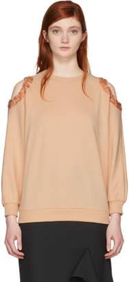 Nina Ricci Pink Sequin Cut-Out Sweatshirt
