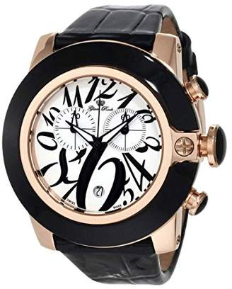 Glam Rock Women's GR32168 SoBe Chronograph Dial Black Patent Leather Watch