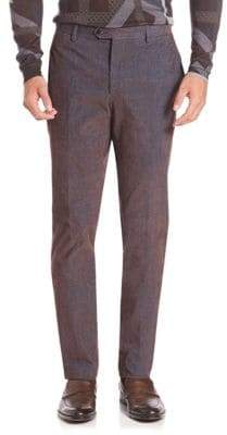 Etro Corduroy Flat-Front Trousers