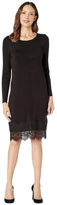 Tribal Long Sleeve Mock Neck Sweater Dress