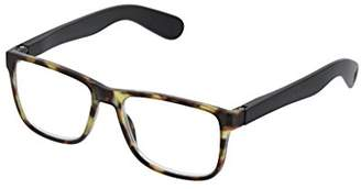 Peepers Unisex-Adult Hutch - Tortoise/Black 2535000 Square Reading Glasses