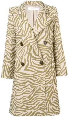 See by Chloe zebra print coat