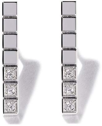 Chopard 18kt white gold Ice Cube Pure diamond earrings