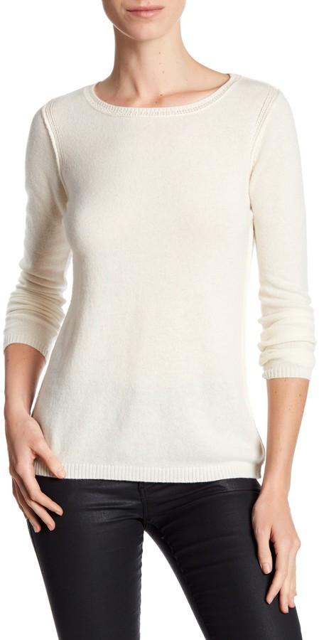 In Cashmere Cashmere Open-Stitch Pullover Sweater 2