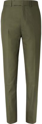 Kingsman Green Slim-Fit Cotton-Twill Suit Trousers