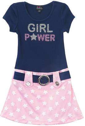 LILT Lilt Short Sleeve Drop Waist Dress - Preschool Girls