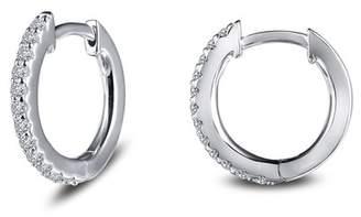 Lafonn Petite Simulated Pave Diamond 12mm Hoop Earrings