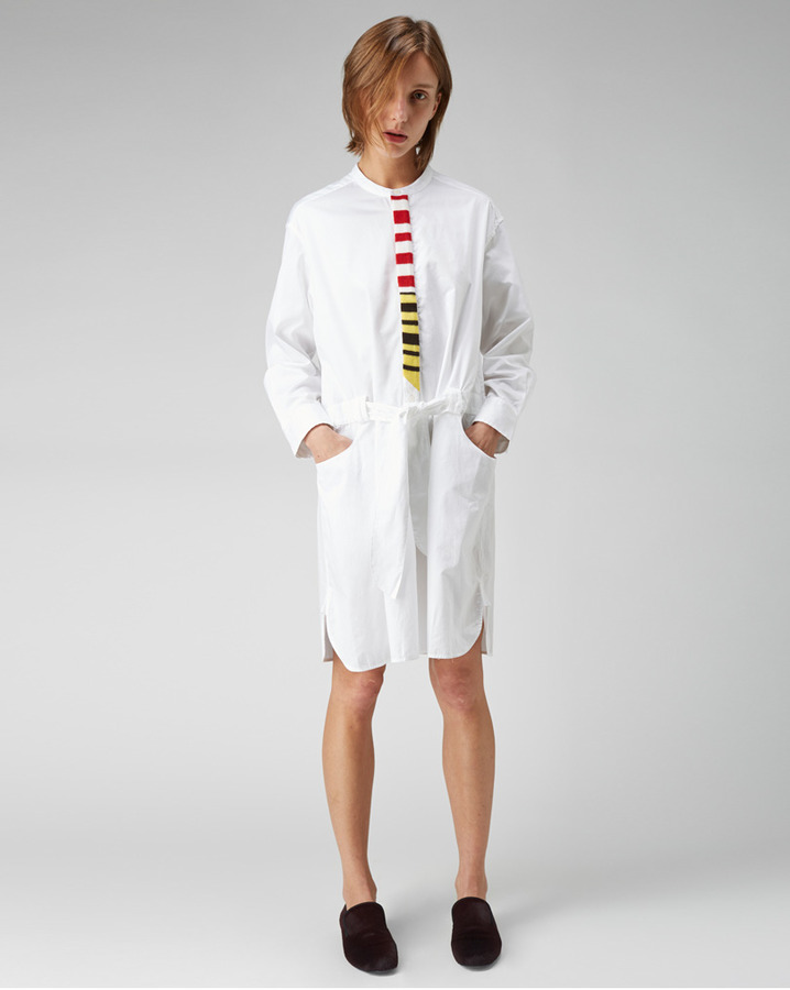 Tsumori Chisato stripe placket shirtdress