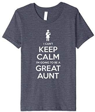 Can't Keep Calm Great Aunt Baby Announcement Funny T-Shirt