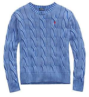Polo Ralph Lauren Women's Long-Sleeve Cable Knit Sweater