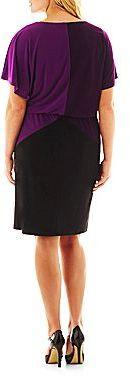 JCPenney V-Neck Colorblock Dress - Plus