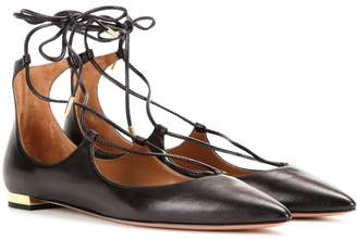 Aquazzura Christy Flat leather ballerinas
