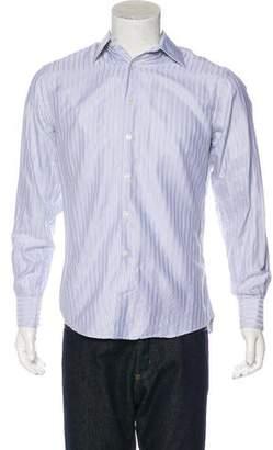 Versace City Silk-Blend Dress Shirt