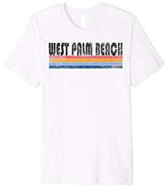 Vintage 1980s Style West Palm Beach FL T Shirt