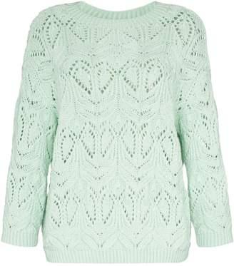 Vika Gazinskaya crochet wool knit jumper